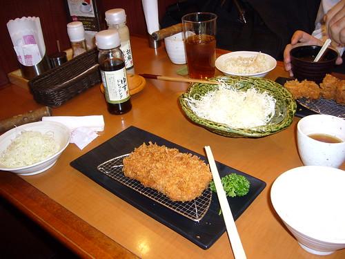 Toncatsu, pork cutlet lunch