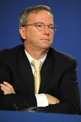 Eric Schmidt at the 37th G8 Summit in Deauvill...