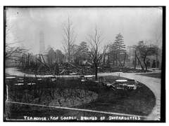 Tea House, Kew Gardens, destroyed by suffraget...
