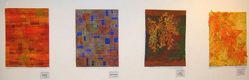 From left to right, works by Nina Novicov Brown, Marlis Egger, Silvie Umiker, and Bea Bernasconi