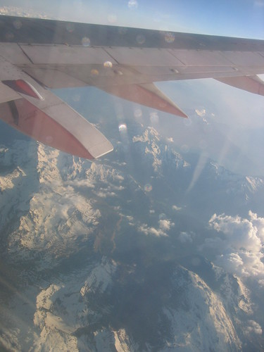 The Alpes seen from an airplane on the way to Nice