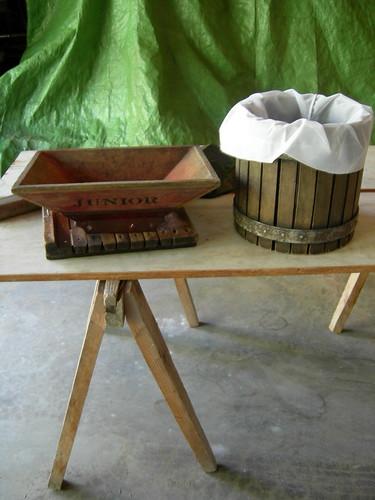 Cider press parts