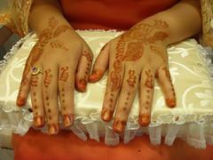 Henna artwork on Hands