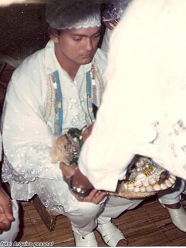 Pai Gilmar recebendo o decá