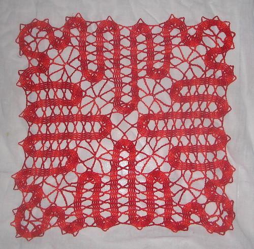 Bruges lace doily