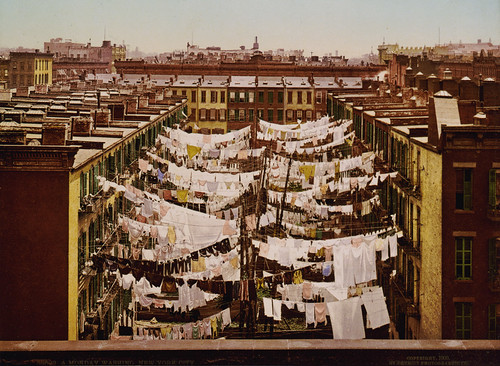 A Monday washing, New York City, 1900