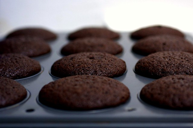 baked chocolate guinness cupcakes