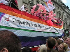 Unions at London Pride 2008.