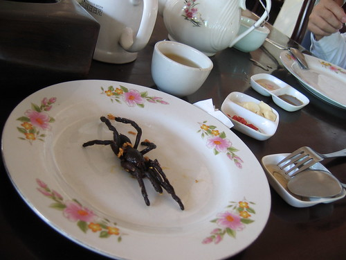 fried spider (yum)