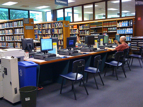 Internet access at Kensington library - Taken With An iPhone