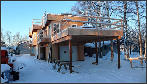 New house in Fairview neighborhood, Anchorage.