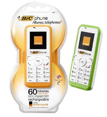 O telefone celular descartável da Bic - BIC PHONE
