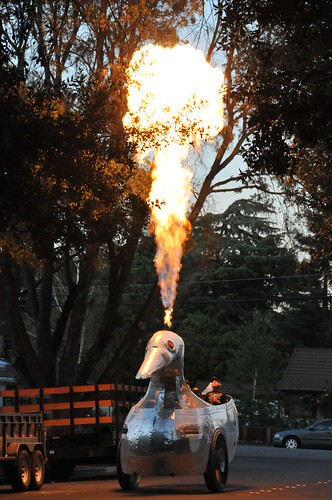 The Duck Flambe making a grand entrance!