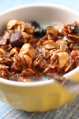 Hazelnut-Coconut-Blackcurrant Granola