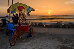 Huanchaco bei Sonnenuntergang