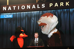 Washington Nationals Teddy vs. the Baltimore Orioles Bird