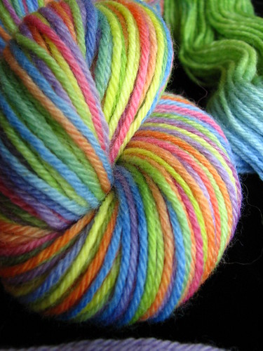 Rainbow on Peruvian Worsted