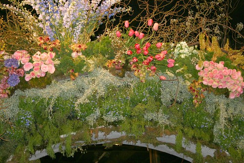 Bridge of flowers at the entrance
