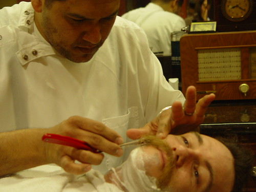 Straight Razor Shave. Photo by Kinsee Morlan