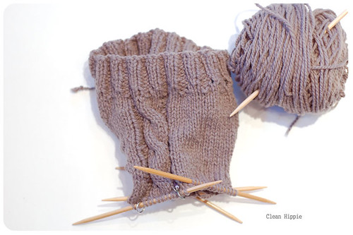 Cabled shorties WIP