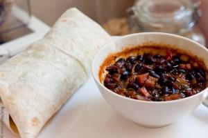 Black Beans & Chickpea Wrap
