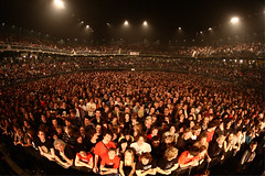 The largest QOTSA headline crowd to date  7300 people at Queens Of The Stone Age, Lotto Arena, Antwerp, Belgium  2 March 2008  This image is CC so you can view the full size and find yourself  it also happens to be one of the largest group portraits I've ever taken, although i have larger crowds