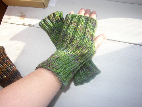 teacher's fingerless mitts