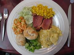 My Christmas dinner plate