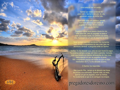 Original Footprints In The Sand Poem Mary Stevenson Verdadeira autoria do ...