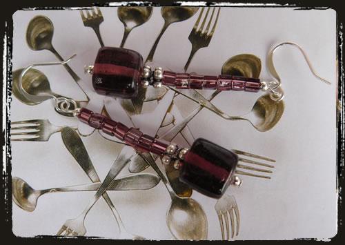 Orecchini viola - Purple earrings MEHFVQU