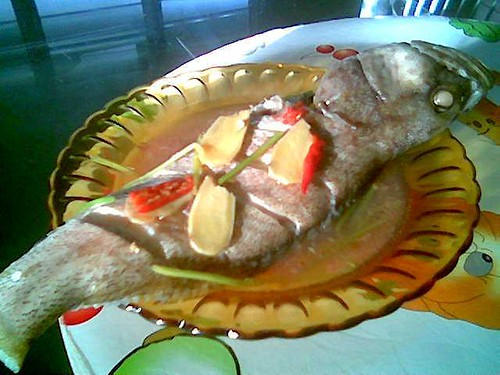 STP's steamed fish in Foochow red wine