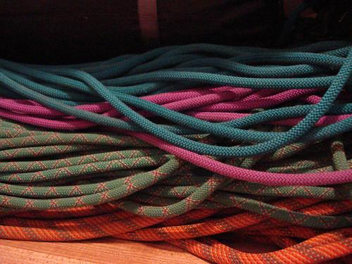 climbing ropes colorful andes por hyperscholar