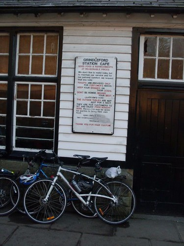 Bikes outside the Cafe
