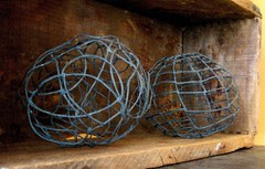 leaded wire balls made by denise carbonell