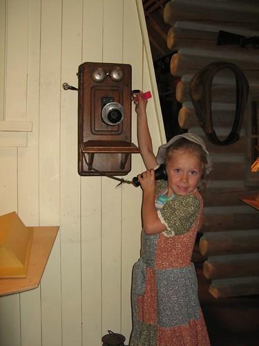 Emily making a call