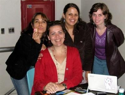 Estela, Rebecca, Srta. Bia e Lu Monte