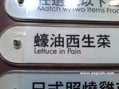 Lettuce in pain