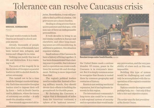 Peace in Caucasus