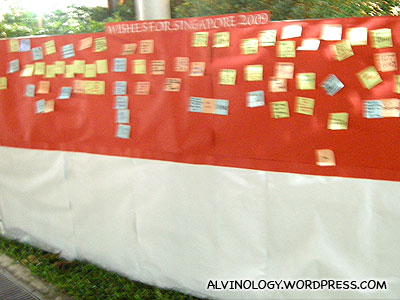 Wall to leave wishes for Singapore in 2009