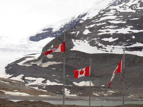 Canadian Flags at the Icefields