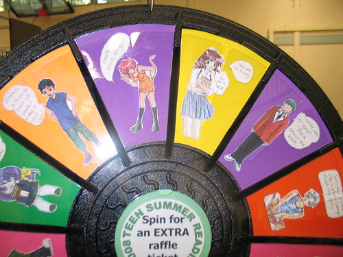 Anime prize wheel
