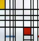 Piet Mondrián. Composición con amarillo, azul y rojo, 1921.