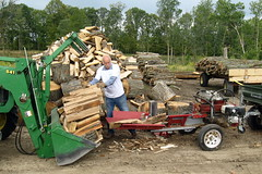 Now this is a wood splitter! See this and other equipment in action. (MFA photo)