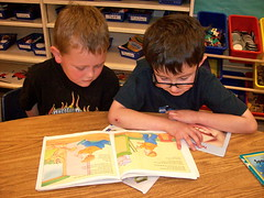 Reading to the Kindergarten Students