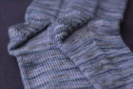 Purple Koigu Socks for my sister