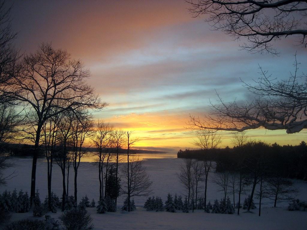 Winter Sunrise in Maine