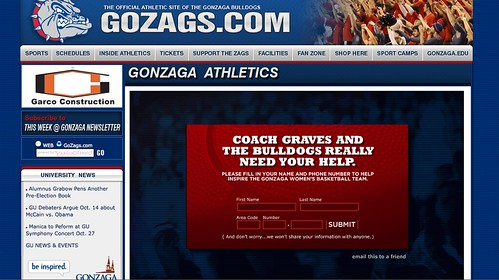 Insanely Cool Gonzaga Promotion