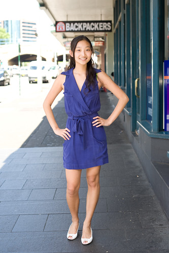 Blue dress - Chinatown