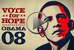 MC Yogi with graphics by Shepard Fairey
