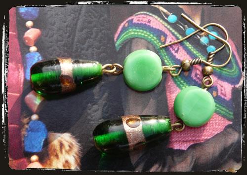 Orecchini verde - Green earrings MEHLOVV